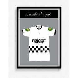 Poster Maillot Peugeot