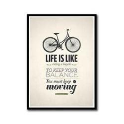 Affiche vintage Vélo Life...